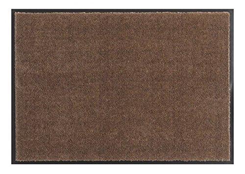 HANSE Home Soft & Clean Fussmatte Schmutzfangmatte, Polyamid, Braun, 39 x 58 x 0.7 cm