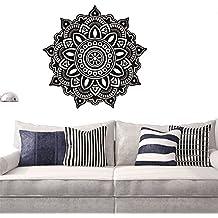 gossipboy DIY pared vinilo adhesivo negro–Mantra Mandala flores para yoga de meditación (57x 57cm)–inspirado Pared Arte Decal Mural para decoración del hogar