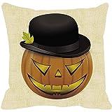 SEWORLD Happy Halloween Kürbis Platz Kissenbezug Kissen Fall Reißverschluss C