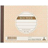 Le Dauphin Carnet bon autocopiant 10,5 x 13,5 cm 50 feuillets autocopiants dupli Lot de 10