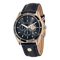 Idea Regalo - Maserati Orologio da Uomo Cronografo al Quarzo con Cinturino in Pelle - R8871624001