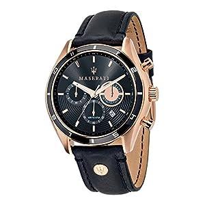 Maserati Reloj Cronógrafo de Cuarzo para Hombre con Correa de Cuero –