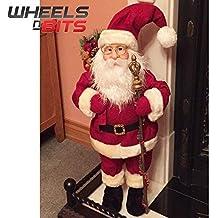 NUEVO XL grande 70cm Santa Claus Papá Noel Figura decoración navideña Utensilios de chimenea ...