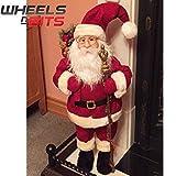 NUEVO XL grande 70cm Santa Claus Papá Noel Figura decoración navideña Utensilios de chimenea corto abrigo 920