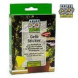 Aries Gelb-Sticker Gelbsticker 100% insektizidfrei – wirksame Gelbtafeln zur Schädlingsbekämpfung gegen Trauermücken und Fruchtfliegen-für Zimmerpflanzen und Pflanzen im Garten-7 Stück