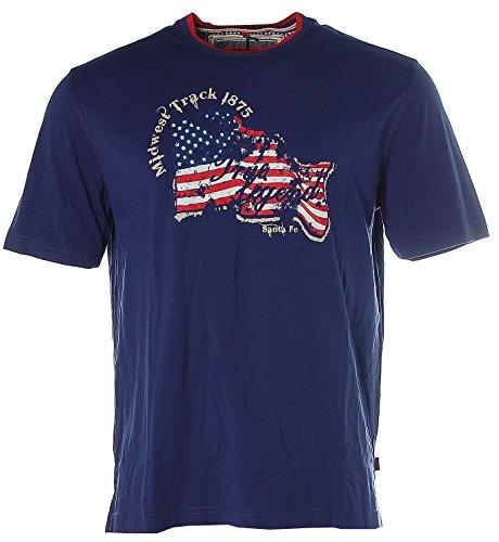 Signum Herren Kurzarm Shirt T-Shirt Midwest Track True Legend Indigo