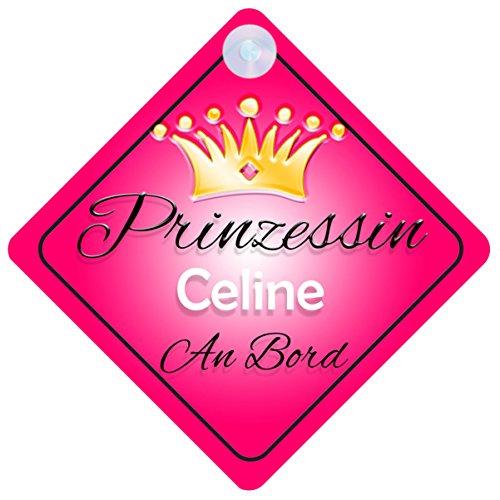 Prinzessin Celine Baby / Kind an Bord Mädchen Auto-Zeichen (Prinzessin001)