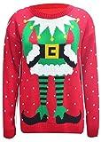 Damen Pullovern Promi Inspiriert Elfe Drucken Gestrickten Weihnachts