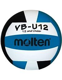 Molten-Ballon de Volleyball VBU12 (Turquoise/noir/blanc - 12 ml et sous/8.1)