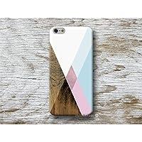 geometrisch Blau Rosa Holz Print Hülle Handyhülle für iPhone 4 4s 5 5se se 5C 5S 6 6s 7 Plus iPhone 8 Plus iPod 5 6