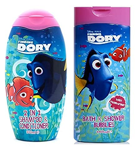 Disney Pixar Finding Dory Bath and Shower Bubbles 400ml + Finding Dory Shampoo and Conditioner 300ml
