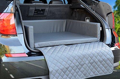 Autoschondecke - Kofferraum Schutzdecke - Auto - Hundebett in Grau Kunstleder