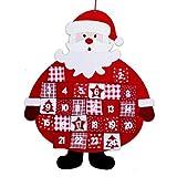 """Calendrier de l'Avent """" Santa """" en tissu pour accrocher incl. Jeu de suspension..."""