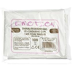 Efalock Emotion - Capa de peluquería (desechable, 1 x 100 unidades), diseño amartillado