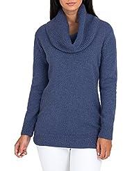 Wool Overs Pull long laine d'agneau col Bardot