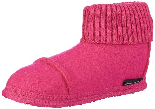 Nanga Tal Mädchen Hohe Hausschuhe, Rot (Himbeerrot 99), 25 EU (8 Kinder UK) (Schuhe Himbeer-flache)