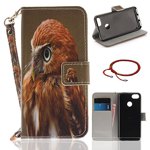 Price comparison product image Huawei P9 Lite Mini / Y6 Pro 2017 Ultrathin PU Leather Flip Cover Pattern, GOCDLJ Cell Phone Case for Huawei P9 Lite Mini / Y6 Pro 2017 Cell Phone Slim Protective Case Anti Scratch Bumper Cover Wallet Fully Protective Build in Stand Function Folio Book Style with Lanyard Strap Magnetic Holder Cash Pocket ID Card Slots Pouch Soft Silicone Backcover Backside Shell Artificial Sleeve + Chinese Style Red Bracelets Design Eagle