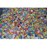 Pack of 100g - TINY PASTEL MIX - Mixed Small Sizes Various Pastel Buttons for Sewing and Crafting