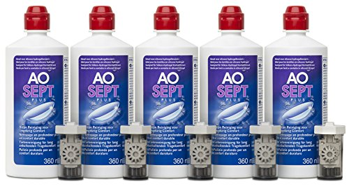 Aosept Plus Kontaklinsen-Pflegemittel, Sparpack, 5 x 360 ml - 3