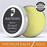 BEARD ELEGANCE Beard Balm - Bartpflege Bartbalsam & Bartpomade - Stoppt den Juckreiz, bändigt den Bart & macht ihn geschmeidig - bekannt als Bart Balsam, Bartwichse, Bartwachs, Bartbalm 100% Natürlich