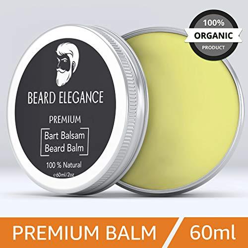 BEARD ELEGANCE Beard Balm - Bartpflege Bartbalsam & Bartpomade - Stoppt den Juckreiz, bändigt den Bart & macht ihn geschmeidig - bekannt als Bart Balsam, Bartwichse, Bartwachs, Bartbalm 100% Natürlich -