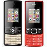 I KALL 1.8 Inch (4.57 Cm) Dual Sim Feature Phone Combo - K24 (Black) And K25 (Red)