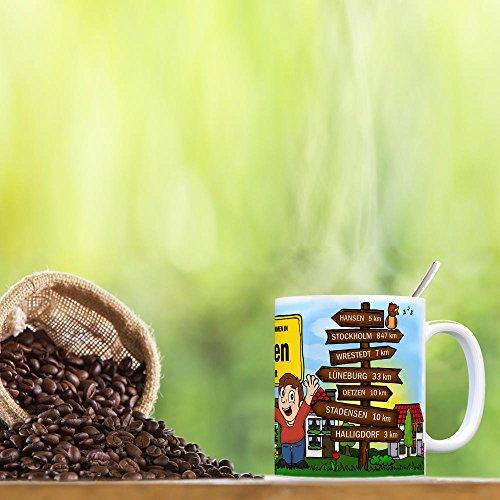 trendaffe - Herzlich Willkommen in Uelzen Lüneburger Heide Kaffeebecher - 3