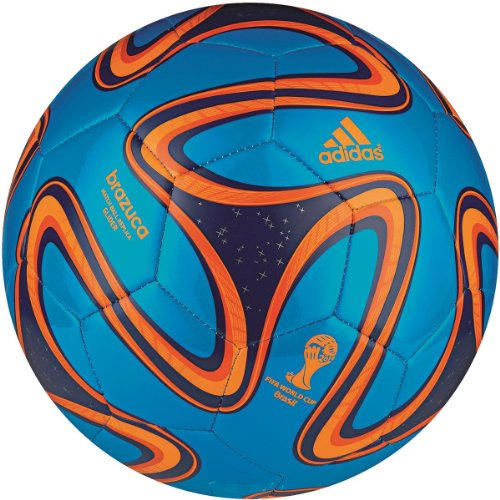 adidas Fußball Brazuca Glider, Solar Blue/Night Blue/Solar Zest, 5, G73630 (Adidas Training England)