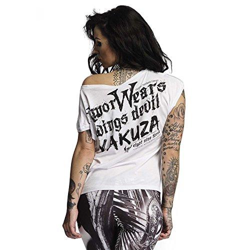 Yakuza Original Damen Armor Wears Knot Shirt Weiß