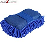 #9: AllExtreme Car Cleaning Wash Sponge Brush Car Window Glass Washer Cleaner Microfiber Ultrafine Washer Sponge Brush Clean Tools (Blue)