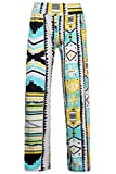 Frauen Hippie Geometric Print Flare Pants