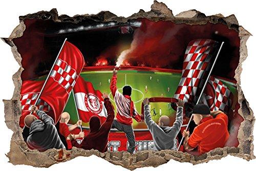 Ultras Die roten Teufel, 3D Wandsticker Format: 92x62cm, Wanddekoration