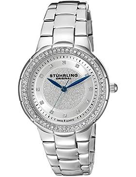 Stuhrling Original Damen-Armbanduhr Vogue Sparkle Analog Quarz 851.01
