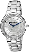 Stuhrling Original Damen-Armbanduhr Vogue Sparkle Analog Quarz 851.01