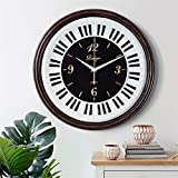YJSMXYD Reloj De Pared Gran Europeo 3D Diseño Moderno Salón Decoración Retro Piano Relojes De Resina Decoración para El Hogar 16 Pulgadas