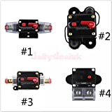 Generic #2 : 200AMP : 20A-300 Amp Manual Reset Circuit Breaker 12v/24v Car Auto Boat Audio Fuse Holder