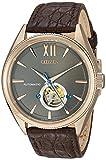 Citizen la colección de la Firma de los Hombres de japonés automático Dorado y Vestido de Reloj de Cuero, Color: marrón (Modelo: nb4003–01H)