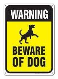 Metall Türschild Warnung Vorsicht vor Hund Schild groß Vorsicht vor Hund Aluminium Wand Poster Yard Zaun Decor Schild Geschenk