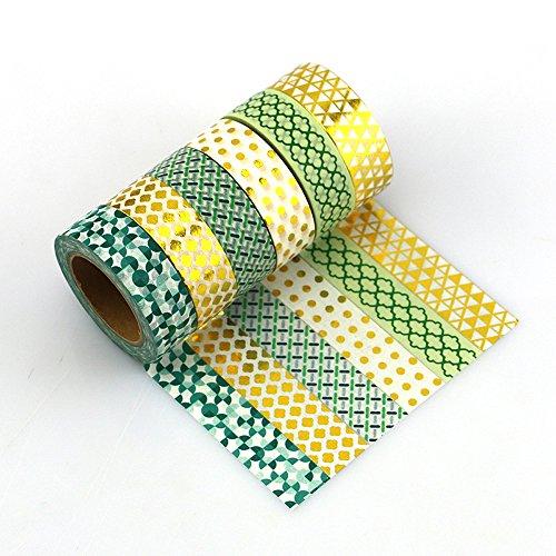 Yuyikes 6er Pack Washi Tape Dekoband Klebebänder Klebeband Masking Tape Scrapbooking DIY Handwerk Geschenk