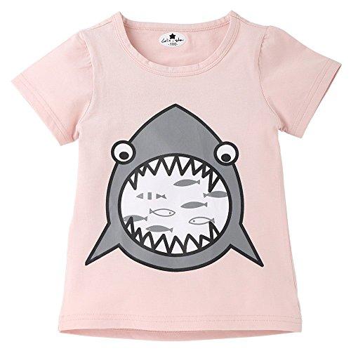 Diath Kinderbekleidung Overalls FüR Baby, Cartoon Brief Drucken Hai Print Short Sleeve Tops T Shirt Tees Kleidung