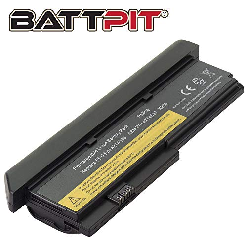 Battpit Laptop Akku für Lenovo 42T4536 42T4648 42T4649 42T4837 47T4647 ThinkPad X200 X200s X200si X201 X201i - [9 Zellen/6600mAh/71Wh] (X201 Akku, Lenovo)