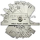 Garantie 2ans en acier inoxydable 7cm & filet métrique Jauge Weld Mesureur RL Caméra d'inspection de soudage Test cubital [Abbott]