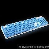Beautyrain 104Pcs ABS Runde Key Caps Hintergrundbeleuchtung für Querachse mechanische Tastatur (blau)