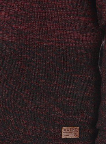 BLEND Bogotá - Pull en Maille- Homme Andorra Red (73811)