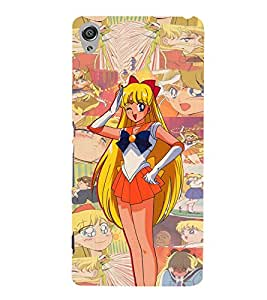 Angle Girl Art 3D Hard Polycarbonate Designer Back Case Cover for Sony Xperia XA :: Sony Xperia XA Dual