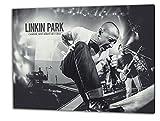 Linkin Park, Format: 100x70 Leinwandbild auf Holzrahmen gespannt, Leinwandbild, 1A Qualität zu 100% Made in Germany! Kein Poster Kein Plakat! Echtholzrahmen mit beigelieferten Zackenaufhängern. Fertig bespannt, Sofort dekorieren. Vier verschiedene Formate.
