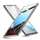 ESR Glashülle kompatibel mit Samsung Galaxy Note 10 Plus - 9H Hartglas Handyhülle mit dualer Rückseite - Kratzfeste Schutzhülle mit weichem TPU Bumper für Galaxy Note10+/5G- Klar