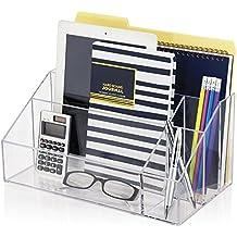 Office Desk Organizer, Carta de documento acrílico Bandeja Holde Clear by Boxalls