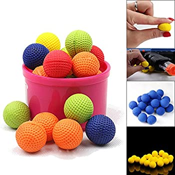 Bullet Ball For Nerf Rival,amamary 20pcs Balls Round Refill Compatible For Rival Apollo Xv-700 Blaster Rival Zeus Mxv-1200 Child Toy (Red) 2