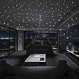 JiaMeng Glow In The Dark Star Pegatinas de Pared Dots and Moon Starry Sky Decoración de la habitación para niños